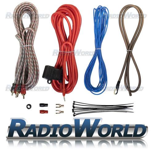 1000 W COCHE AMP amplificador Kit de cables AWG 10 Gauge