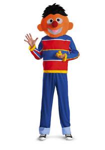 Herren Adult Licensed Deluxe Sesamstraße Ernie Kostüm Ebay