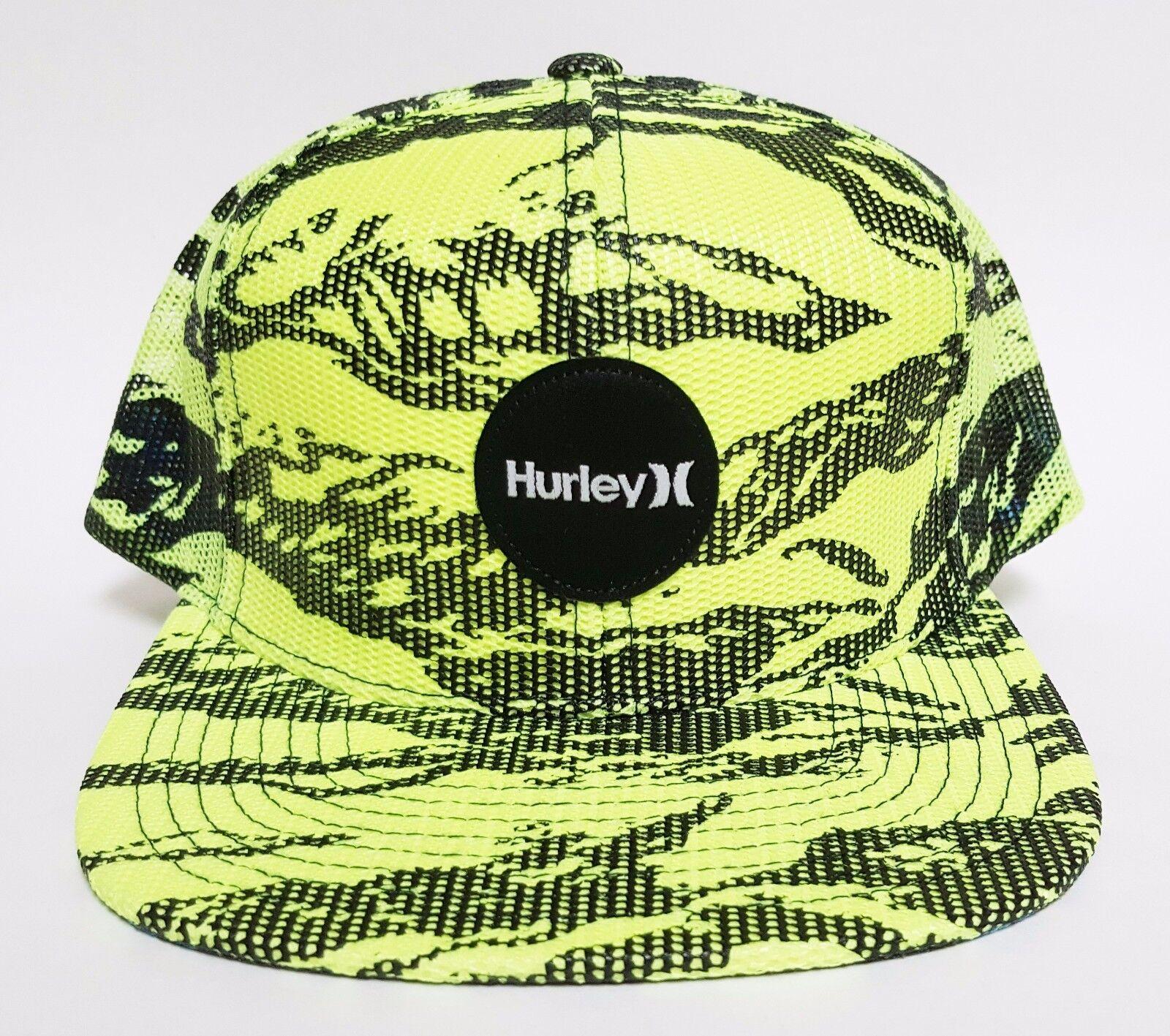 cafac655070 Hurley KRUSH Mesher Snapback Hat Yellow OSFA ( ) All-mesh Skate Camo ...