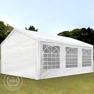 Partyzelt-Pavillon-4x6m-Festzelt-Bierzelt-Gartenzelt-Vereinszelt-Markt-Zelt-weiss
