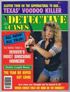ORIGINAL Vintage February 1995 Detective Cases Magazine GGA