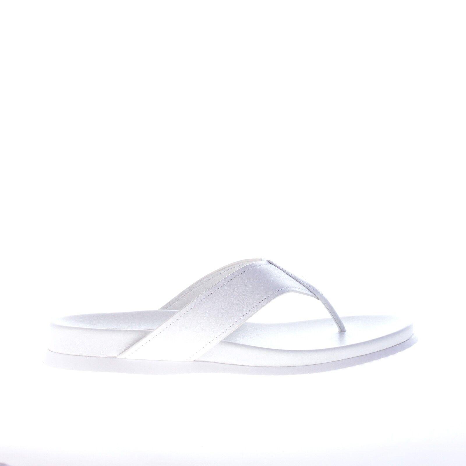 PRADA scarpe donna Donna shoes pelle sandalo slide infradito in pelle shoes BIANCO c79a89