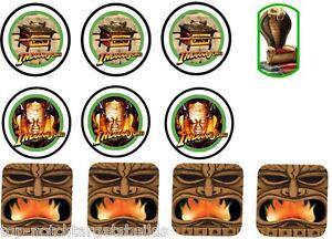 INDIANA JONES Pinball Machine Mod Target Cushioned Decals (WILLIAMS)