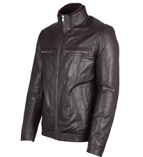 BNWT Genuine Mens Hugo Boss Leather Jacket L 50 RRP £460 (Almeo)