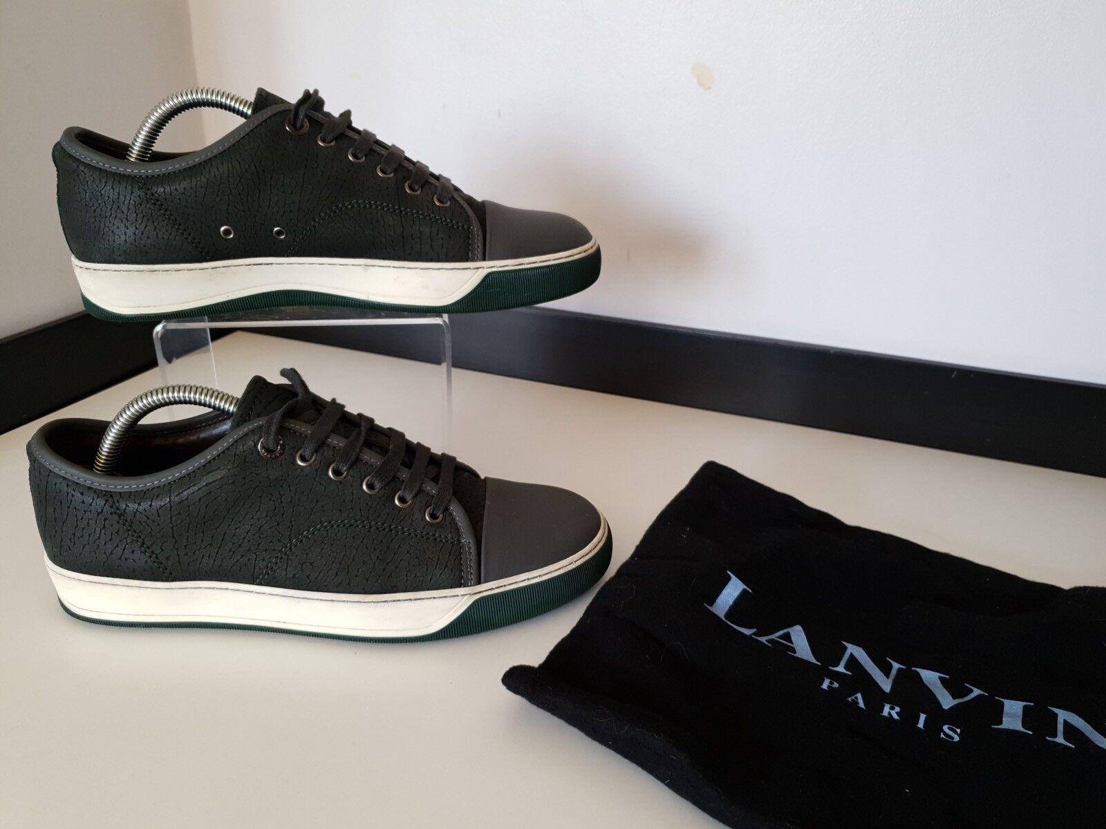 Lanvin Para hombre Zapatillas, Zapatillas, Zapatos, Reino Unido 5 Eu39, verde Y gris, Cuero, en muy buena condición