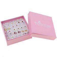Wholesale Lot of 18 Color Crystal Fashion Stud Earrings Teen Girls Kids Womens