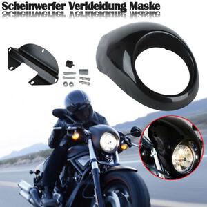 Lampenmaske-Scheinwerfer-Verkleidung-Fairing-Fuer-Harley-Dyna-Sportster-FX-XL