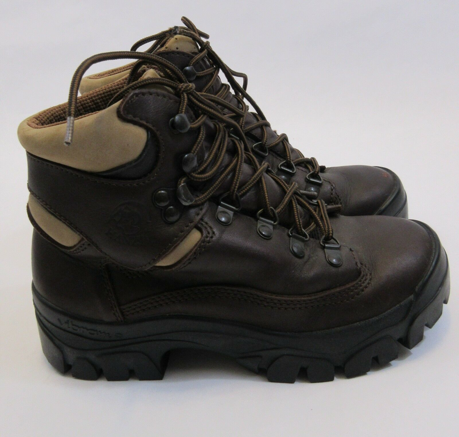 Wiggy's Hanzel Brown Leather Hiking Outdoor Boots Vibram Size 36 US Size 5.5/6