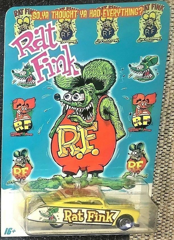 HOT WHEEL Purple Passion Limited Edition Custom Real Rider Rat Fink die cast