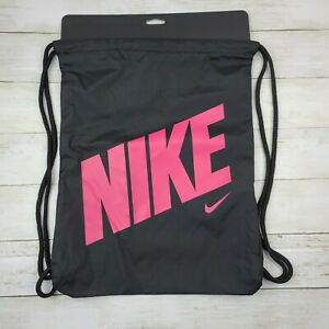 NIKE Young Athlete Drawstring Gymsack Black Pink BA5262 016 - New