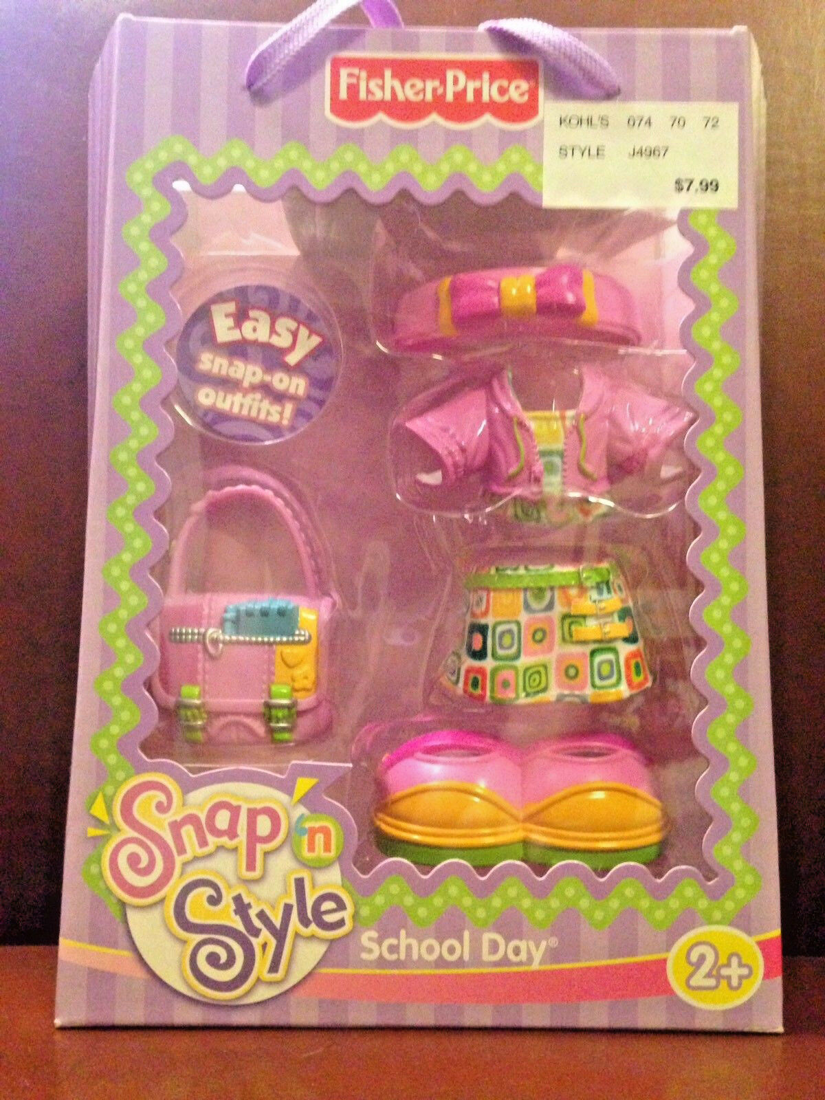 Fisher Price Snap n Style School Day Outfit - Rare Rare Rare NIB 857ea1