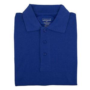 06afa83f5 Adult Unisex Royal Blue Pique Polo Shirt Tanvir School Uniform Short ...
