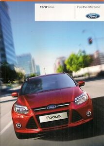 Image Is Loading Ford Focus   Uk Market Launch Pp