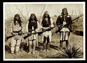 946-Postcard-Geronimo-039-s-Band-Apache-Warrior-Indian-1886-C-S-Fly-Photo-NEW