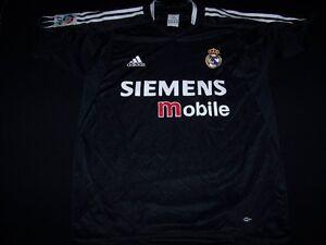 buy popular 41182 d8a3a Details about Real Madrid Football Club Soccer MCF Siemens Adidas Jersey  black shirt mens XL