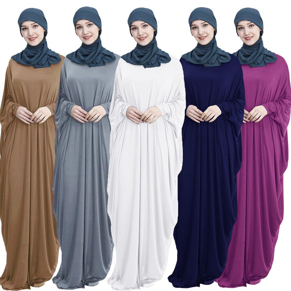 Muslim Batwing Sleeve Women Dress Abaya Prayer Maxi Kaftan Robe Jilbab Ramadan