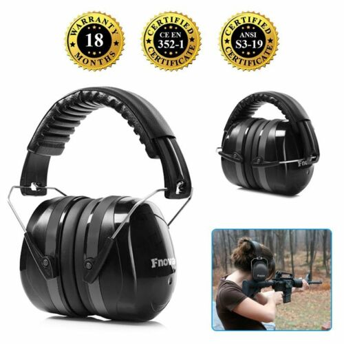 2019 Safety Sound Impact Ear Muffs Hearing Protection Noise Reduction 34dB Black