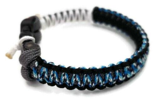 Paracord Bracelet 550 Blanc//Noir//Bleu Camo Micro cordon U.S vendeur-Handmade