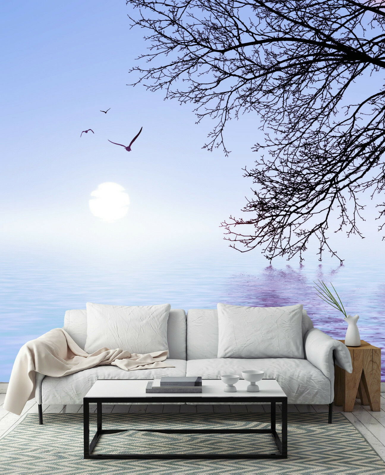 3D Fluss, Baum 898 Fototapeten Wandbild Fototapete Bild Tapete Familie Kinder | Qualität Produkt  | Ausreichende Versorgung  | Elegant Und Würdevoll