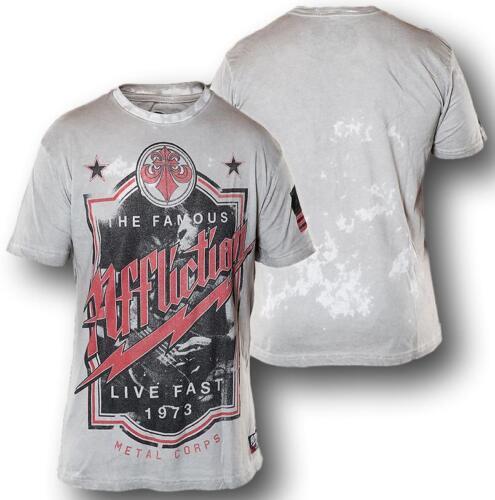 New Affliction METAL CORPS A7979 Men/'s Short Sleeve T-shirt Tee