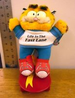 Garfield Life In Fast Lane Plush Doll Jim Davis Tabby Cat Skateboard 1981