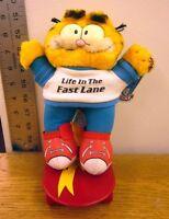 Garfield Life In Fast Lane Plush Doll Jim Davis Tabby Cat Skateboard 1981