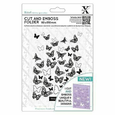Butterfly Frame 110x150mm Xcut Cut /& Emboss Scrapbook Paper Craft Folder