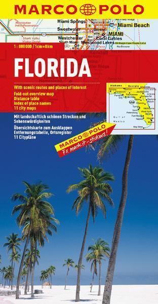 MARCO POLO Kontinentalkarte Florida 1:800.000 (MARCO POLO Länderkarten) von Marc