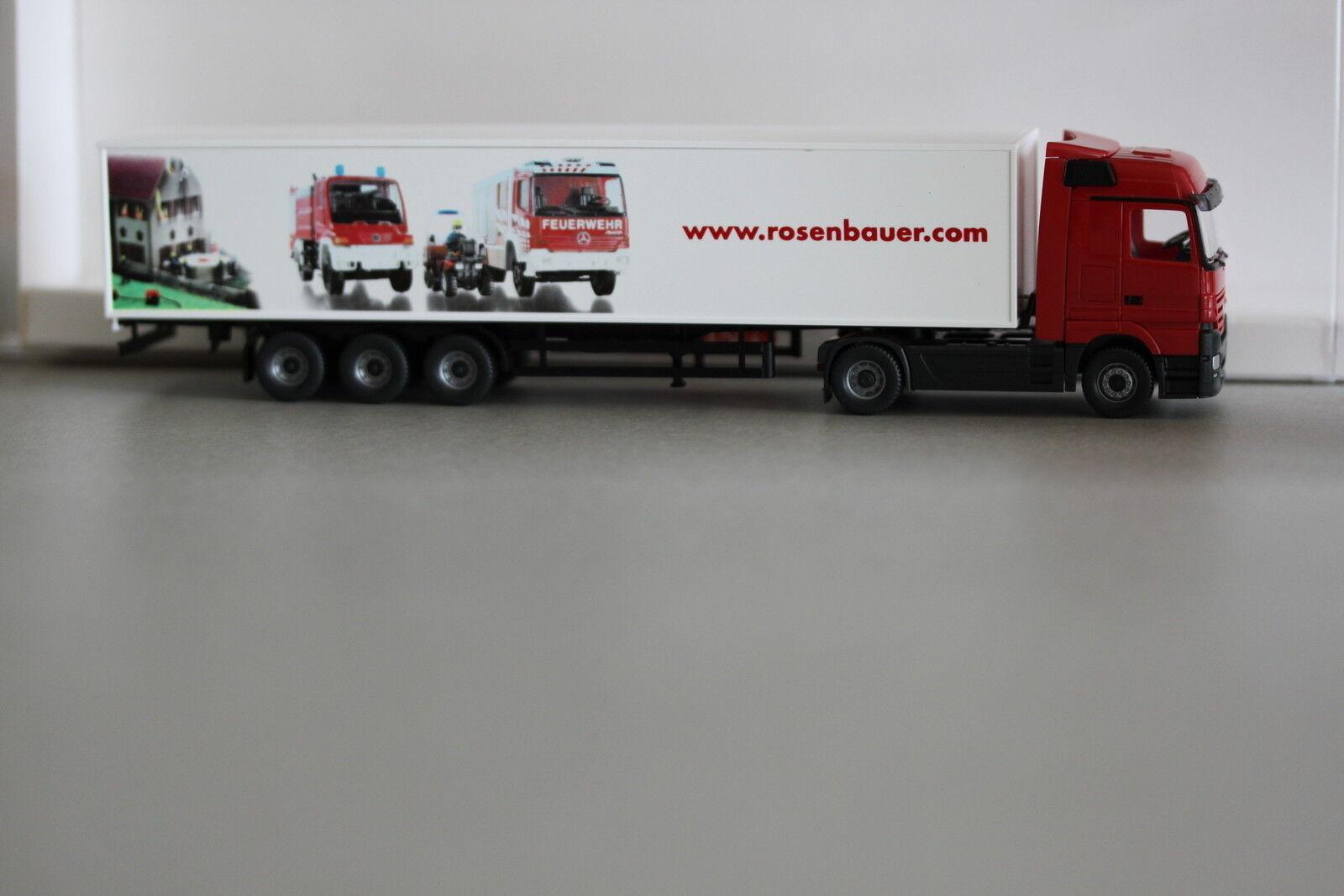 Wiking 538 12 Koffer-Sattelzug MB Actros pinknbauer Feuerwehr - Systeme 1 87 Spu