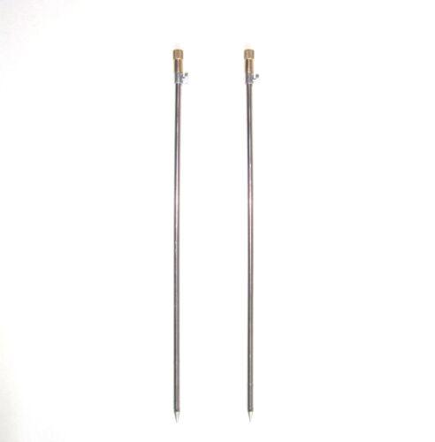 2x Bank Stick Erdspieß Erdspeer Rutenauflage Rutenhalter 60-100cm 8200011