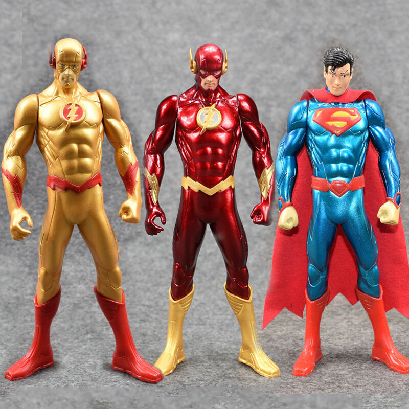 Verrckte spielzeuge   superman, der flash - und flash - reverse - 7 1   8in-2 13   16in