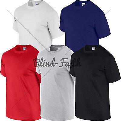 5 Pack Cotton Tshirts White Black Red Blue Green Orange Purple All Sizes *SALE*