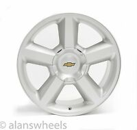 4 Chevy Suburban Tahoe Ltz Silver 20 Wheels Rims Gold Bowtie Free Ship 5308