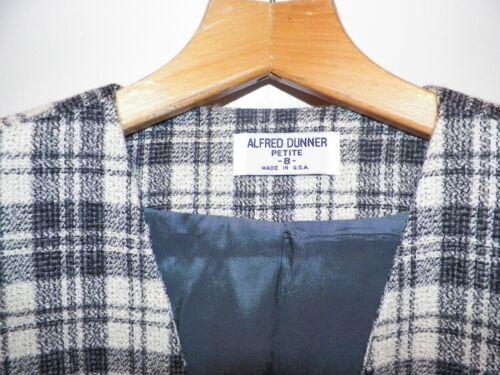 Vintage Dunner Grigio Lana Blazer Donna 8p Giacca Piccola Alfred Plaid Misto UEwInAx1fq