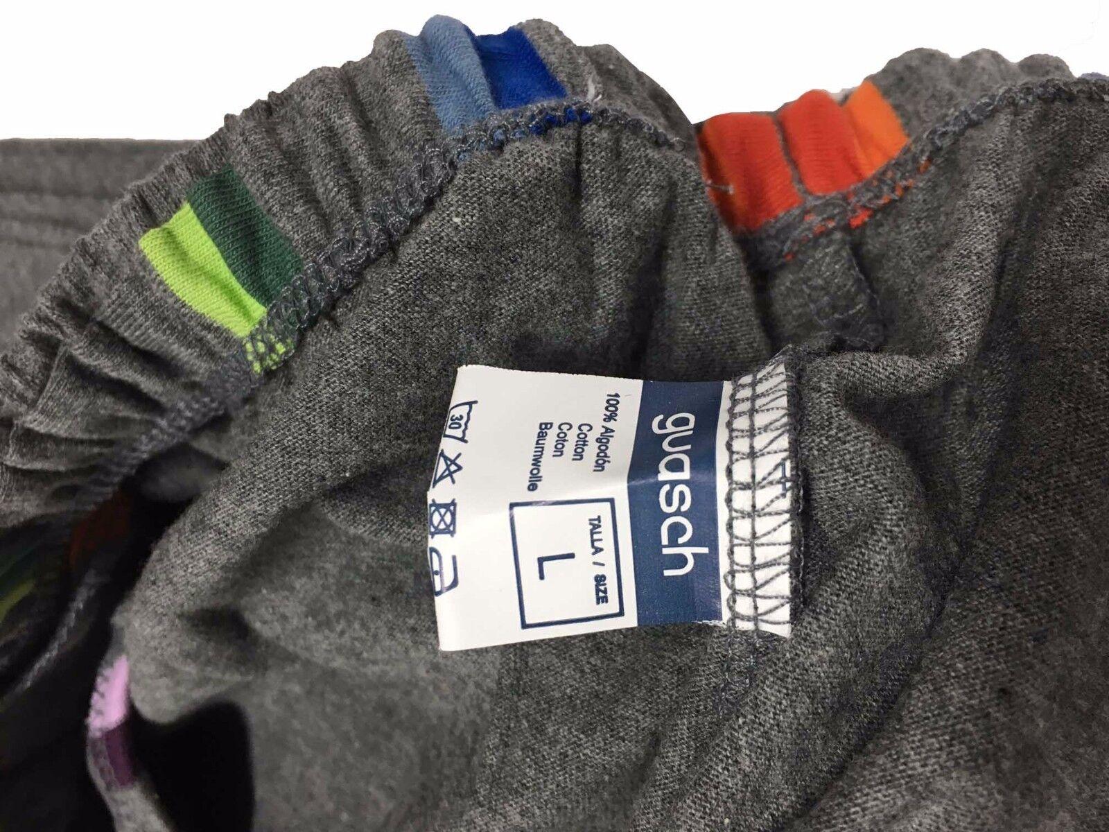 GUASCH pigiama cotone uomo uomo grigio/multicolor 100% cotone pigiama S-3 bcb33c