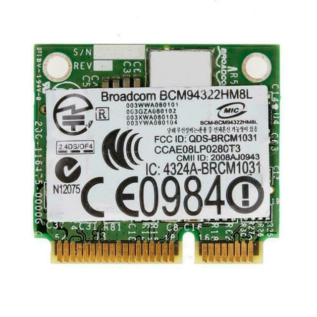 PCI-E BCM94322HM8L DW1510 Mini Dual Band 300M Wireless Card For DELL E4200