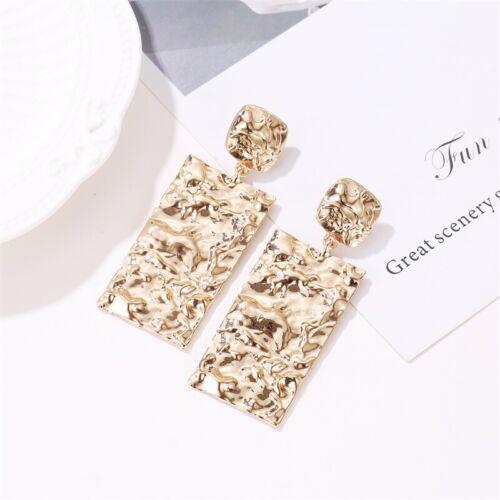 Fashion Rock Jewelry Geometric Dangle Drop Earrings Metal Statement Big Gold New