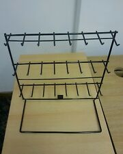 24 Hook Keyring Jewelry Display Stand Key Rings Market Shop Metal Wire Rack