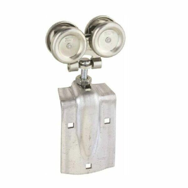 6 Stanley Mfg N193-714  2 Packs Zinc Flexible Barn Door Rollers w Offset Bolt