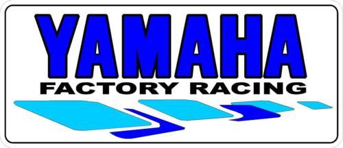"1 4.5/"" Yamaha Factory Racing Decal RD350 RZ350 FZR FZ Sticker Laminated #k188"