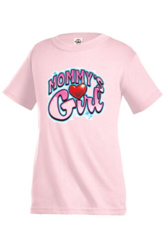 MOMMY`S GIRL Heart crystal Funny Graphic T-shirt Children Kids Girl tee KP170