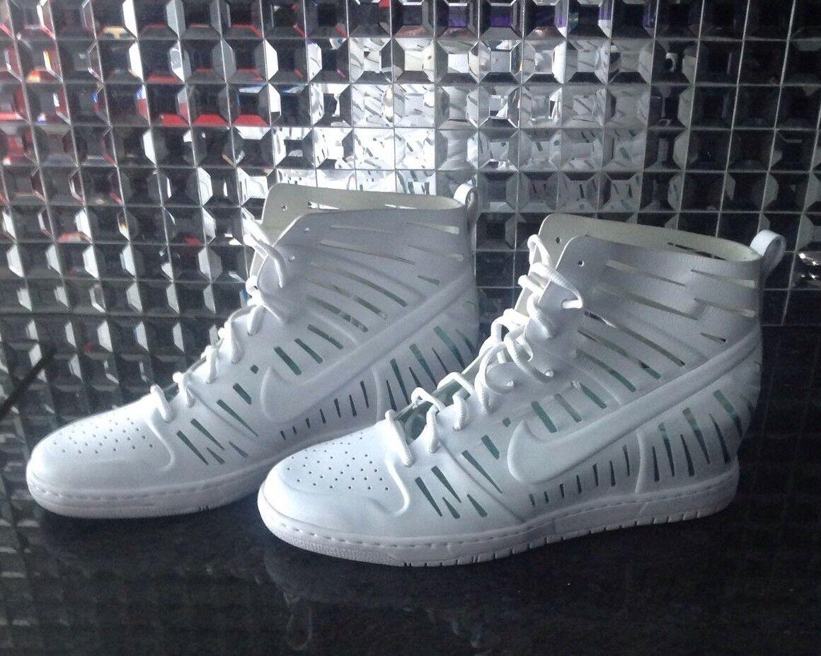 New 12 Nike Joli Sky Hi High Wedge Dunk 2.0 White Teal Sneakers Sandals Size 12