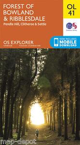 FOREST-OF-BOWLAND-amp-RIBBLESDALE-EXPLORER-Map-OL-41-Ordnance-Survey-OS-NEW