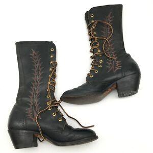 TONY LAMA Vintage Lace up Boots Size
