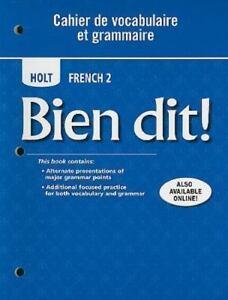 Bien dit cahier de vocabulaire et grammaire online dating