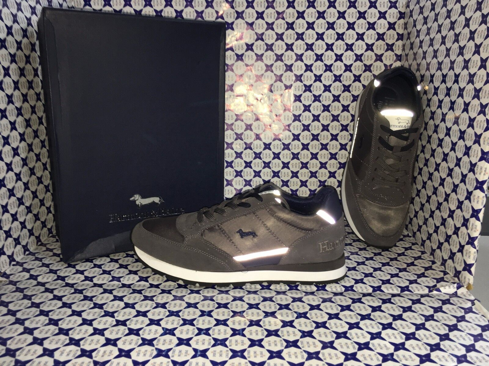 shoes HARMONT & BLAINE men - Training Camoscio NYL - Piombo - E900060