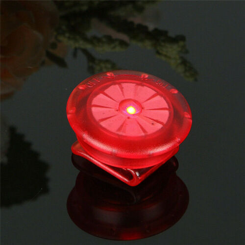 LED Clip On Safety Light Strobe Pet Running Bike Cycling Taillight Warning Gear