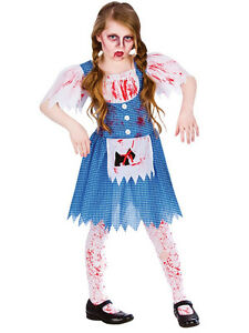 Diy Halloween Costumes For Girls Age 11 13.Details About Girls 5 13 Dead Deadly Dorothy Zombie Oz Walking Halloween Fancy Dress Costume