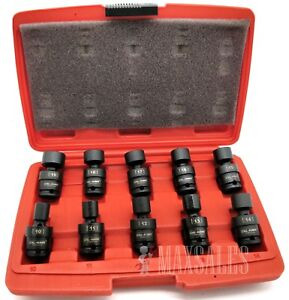 10PC-3-8-034-DR-METRIC-SHALLOW-UNIVERSAL-IMPACT-6-POINT-SOCKETS