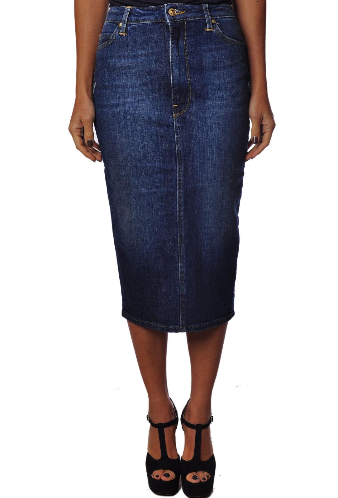 Truenyc - Skirts-midi Skirts - woman - bluee - 730117C184246